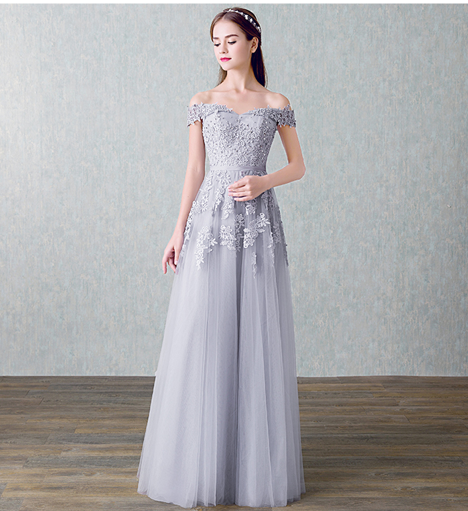 LAMYA 2018 New Arrived Women Beading Long Evening Dresses Elegant Lace Boat Neck Banquet Sexy Formal Party Gown robe de soiree 11