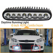 "40W 7"" High Intensity LED Mini Light Bar Spot Flood Fog Lamp Work Light Driving Lamps for Truck RV Campers Off Road SUV Offroad(China)"