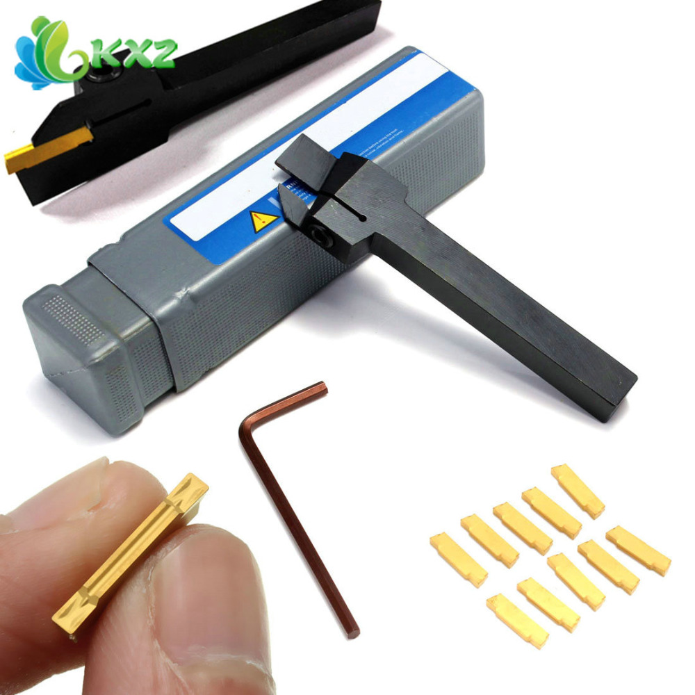 MGEHR 1010-2 10x10 x100mm Grooving Tool Holder With 10pcs MGMN200 Insert Blade For 2mm Cut<br><br>Aliexpress