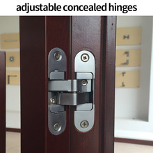 Hidden Hinges Invisible Concealed Cross Door Hinge Bearing 60KG With Screw For Folding Door(China)