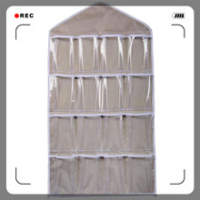 MAIOUMY 16Pockets Organizer Clear Hanging Bag Socks cover Cases for clothes Bra Underwear Rack Hanger Storage Organizer GN