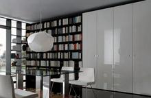 White bedroom furniture with bookcase shelf(China)