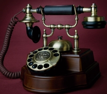 Fashion antique vintage rotating disk 1898 solid wood technology old fashioned landline telephone(China)