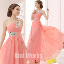 Buy long dress Gown 2017 Long Pink Design Formal evening gown wedding party dress Floor-length Chiffon for $28.79 in AliExpress store