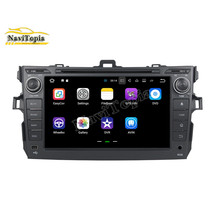 NaviTopia 8Inch 2G+16G Android 7.1 Car DVD GPS for Toyota Corolla 2006-2011 Auto Car PC Bluetooth Wifi Radio Stereo Navigation(China)