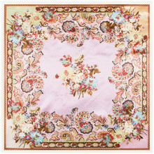 90x90cm Fashion style Imitation Silk Scarf Women Cashew Flower Pattern Paint NeckerChief Bandana Large Muslim headscarf
