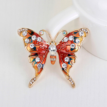 Women's Chic Multicolor Rhinestone Butterfly Brooch Pin Cocktail Party Jewelry