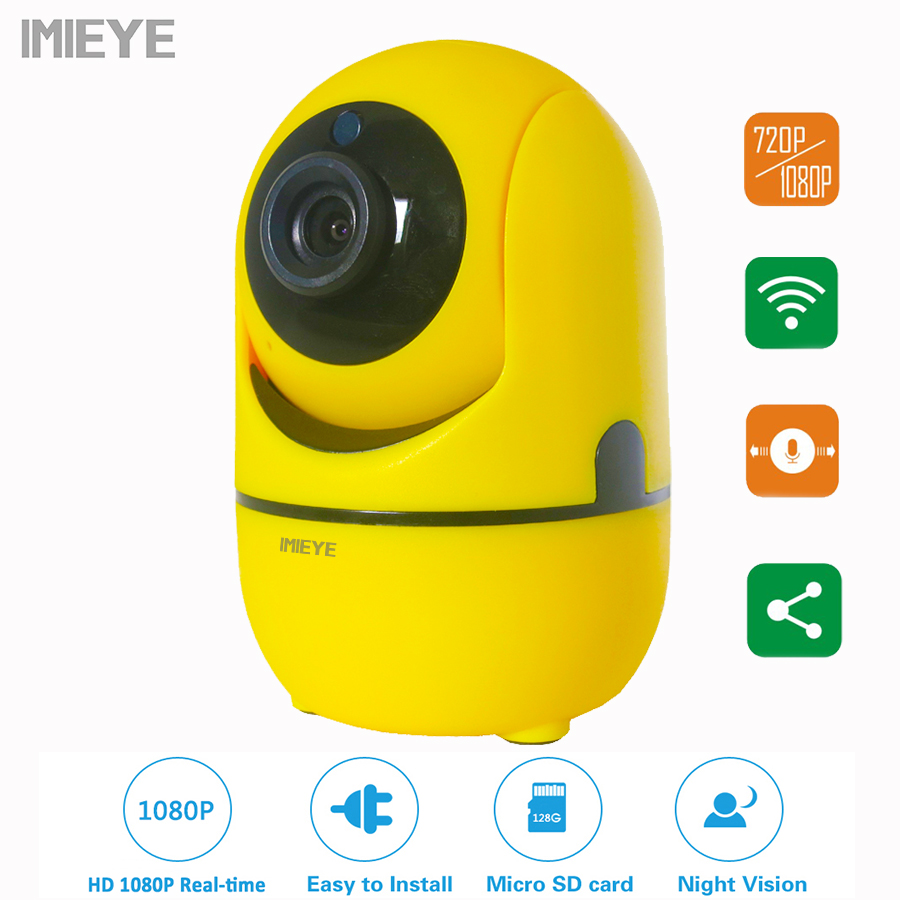 IMIEYE 1080P Full HD CCTV IP Wifi Wireless Security Camera Surveillance video 1080P WI-FI Night Vision Baby Monitor PTZ Camera<br>