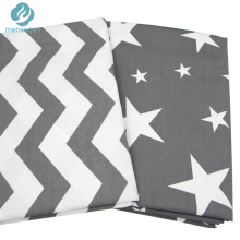 2pc 50*160cm Grey Stars Chevron Design Cotton Fabric for Home Textile Cushion Sewing Baby Quilts Fabric Home Decoration Material(China)