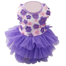 Summer Wedding Dog Dress Puppy Cat Clothes for Small Dog Funny Pet Costume Tulle Dresses Floral Princess Vestidos For Dogs