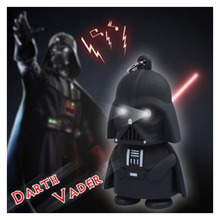 Super Star Wars Black Knight Darth Vader Stormtrooper Mini LED Light With Sound PVC Action Figure Toy Keychain Anakin Skywalker