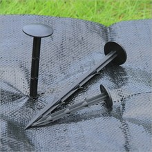 Garden Nail Pegs 50Pcs/lot 11/16/20cm Black PP Film Mulch Fix Tools for Anti-bird Net Greenhouse Ground Cloth Sunshade Fly Net(China)