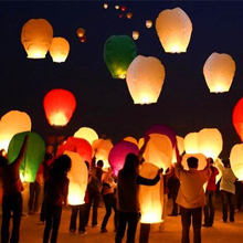 New 10Pcs/set Love Heart Sky Lantern Flying Wishing Lamp Hot Air Balloon Kongming Lantern Party Favors 90CM For Birthday Party
