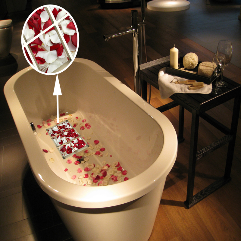 1 Pc Creative 3D Wall Stickers Rose Petals Personalized Bath Stickers Bathroom Waterproof Decorative Stickers Product(China (Mainland))