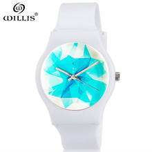 WILLIS Top Brand Luxury Quartz watches Women Business Casual Ice Japan quartz watch genuine Silicone ultra thin clock girl New(China)
