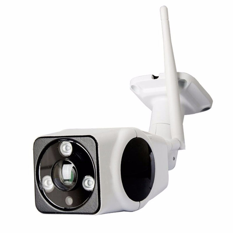 IP Camera Waterproof 180 Degree Visual High Definition Panoramic Fisheye Lens Night Vision Outdoor Sport Home Security White