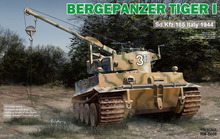 RYE FIELD RMF RM-5008 1/35 Scale Bergepanzer Tiger I Sd.Kfz.185 Italy 1944 Plastic Model Building Kit(China)