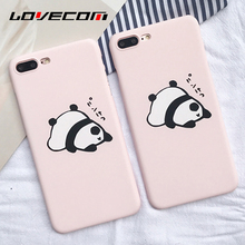 LOVECOM Lovely Cute Sleeping Panda Animal For iPhone 7 Plus 5 5S 6 6S Plus Back Covers Hard Scrub Anti Shock Mobile Phone Cases