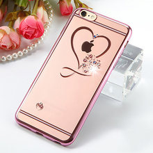 Buy TIKITAKA Luxury Glitter Crystal Silicone Case iPhone 6 6S Plus Ultra Thin Bling Diamond Back Cover Coque iPhone 6Plus for $1.42 in AliExpress store