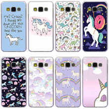 365GH unicorn with rainbow pink Transparent Case Cover for Samsung Note 3 4 5 7 for Galaxy a3 a5 2017 a7 a8 j3 j5 j7 2015 2016(China)