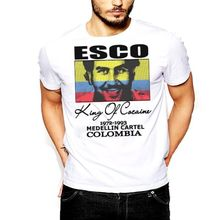 Pablo Escobar T-Shirt Medellin Cartel King of Plato A Plomo Colombian Tee Shirt Mens 2017 New T Shirts Printing Simple