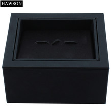 Rotatable Display Cufflinks Box High Quality Black Storage Boxes for Tie Clip Gift Jewelry Case(China)