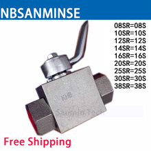 Hydraulic Ball Valve Stainless Steel 08/10/12/14/16/20/25/30/38 SR KHB - SR Type Normal Temperature Anticorrosion Sanmin