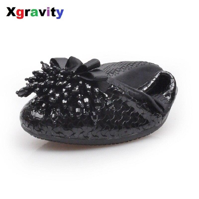 Hot Sales 2018 Spring Fringe Flat Shoes Elegant Comfortable Womans Tassel Ballet Flats Genuine Leather Foldable Shoes C128<br>