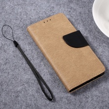 for Huawei P 8 Lite 2017 Bag Pebble Grain PU Leather Mobile Casing Phone Accessory for Huawei P8 Lite (2017) Honor 8 Lite-Khaki