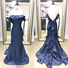 Mermaid Prom Dresses 2019 Under 100 Cheap Long Navy Blue Evening Dress Party  For Women Cheap 5d1f28386d4d