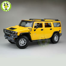 1/18 Hummer H2 SUV Maisto Diecast Model Car SUV Model Yellow