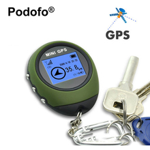 Podofo Mini Handheld GPS Navigation Receiver Location Finder USB Rechargeable with Electronic Compass for Outdoor Travel
