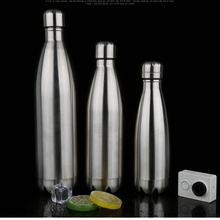 Vacuum Insulated Water Bottle Double Wall Stainless Steel Travel Bottle For Hot & Cold Drinks No Sweat Leak Proof BPA Free(China)