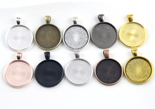 10pcs/lot 25mm Inner Size 10 Colors Plated Classic pattern series Fit 25mm Glass Cabochon Base Setting Tray;Lose Money Promotion(China)