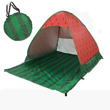 Widesea new pop up beach tent watermelon beach sunselter UV-protective quick automatic open fishing hiking &camping