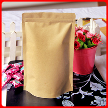 50pcs/lot 18cm*30cm+5cm*140mic High Quality Laminating Pouches Packaging Paper Kraft Paper Bag Crafts Stand Up Bag(China)
