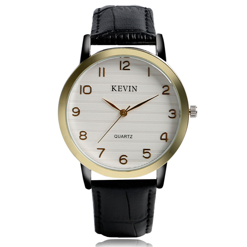 New Arrival Simple White Dial Watches Stylish Trendy Business PU Leather Strap Band Quartz Wrist Watch For A Gift<br><br>Aliexpress