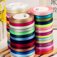 6mm Width Colorful Bow Ribbons braided hair ribbon Wedding Party Decoration Gift Craft Sewing art Fabric Tape DIY  -1  Yard/Pcs