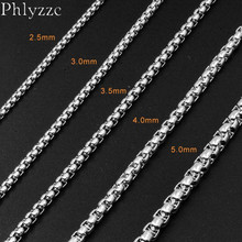 Stainless Steel Chain Necklace Choker Women Men Jewelry Wholesale 3MM Vintage Silver Color Link Rolo Chains Necklaces Gift N106