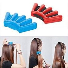 1Pc Ladies Wonder Sponge Hair Braider Twist Styling Braid Tool Holder Clip DIY