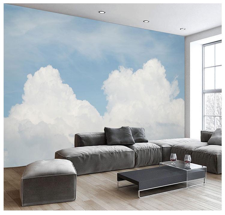 HTB1qWn8qhSYBuNjSspjq6x73VXaL - Pink Sky Cloud 3d Cartoon Wallpaper Murals for Girls Room