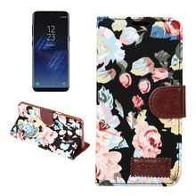 For Galaxy S8 S8 Plus Cell Phone Bag Flower Jeans Cloth PU Leather Flip Phone Cases for Samsung Galaxy S7 S6 S5 S4 NOTE4 5 I9190(China)