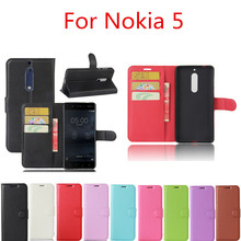 For Nokia 5 Case 5.2inch Luxury PU Leather Wallet Style Cover Case For Nokia 5 Phone Bag Cases with Standing / Card Holder