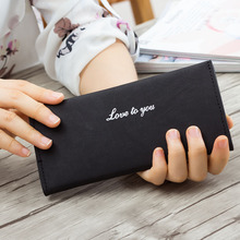 New 2017 Fashion Matte Thin Women Long Wallet Vintage Letter PU Leather Female Clutch Purse Nubuck Card Holder Lady Money Bag