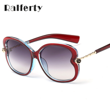 Ralferty Fashion Ladies Sunglasses Women Heart Designer Flower Sun Glasses For Woman UV400 Shades Goggles lunette femme A72