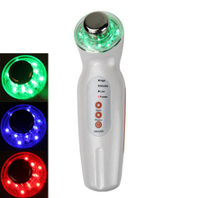 Portable 3MHZ 3 LED Color Photon Massager Ultrasonic Facial Massager Skin Care Clean Home Electric Face Massager Device(Hong Kong,China)