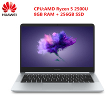 HUAWEI Honor MagicBook ноутбук 14 дюймов Windows 10 AMD Ryzen 5 2500U 8 ГБ DDR4 256 ГБ SSD HDMI Камера Bluetooth 4,1(China)