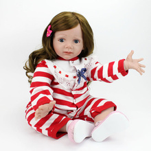 Princess Doll 23inch Silicone Reborn Baby Doll Toys 60cm Realistic Alive Baby Doll Reborn Babies Lifelike Newborn Playmate Toys(China)