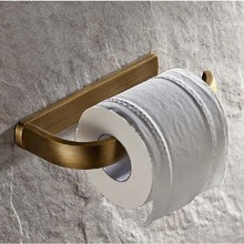 Hot Sale Wholesale And Retail Promotion NEW Antique Brass Bathroom Wall Mounted Toilet Paper Holder Roll Tissue Holder