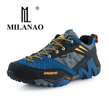 MILANAO Waterproof Hiking Shoes Men Sneakers 2015 Leather Outdoor Mens Sport Trekking Walking Shoes Sapatos Tenis zapatos hombre